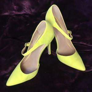ASOS bright yellow/green high heels